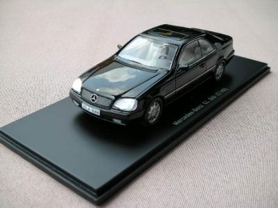1/43メルセデスベンツ クラシックコレクション 本国純正ミニカー W140 CL500 ブラック