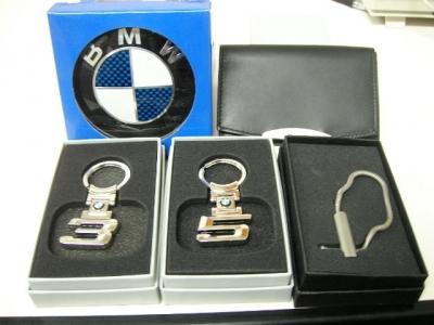 BMWのロゴマーク入りキーホルダー