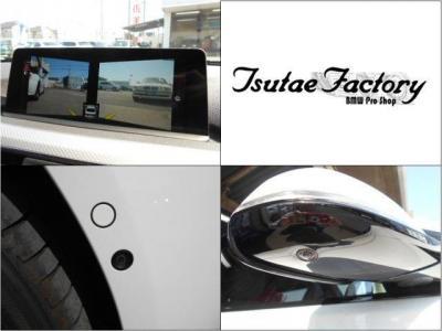 最先端のドライビング・アシスト機能としてフロントバンパーとサイドミラーにカメラが装備され、見通しの悪い路地での視認性を高めてくれます。