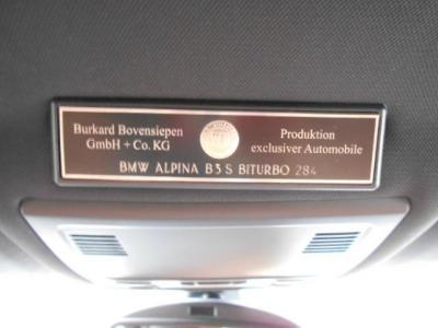 これぞアルピナ職人の誇りともいうべきプロダクションプレートがアルピナオーナーに高揚感を与えてくれます。