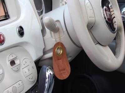 車内に。ちょっとした小物がオシャレ感を出してます。 こちらはCOW TAGタイプ。