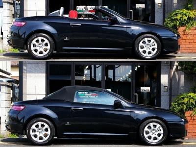 ★全長4400mm×全幅1830mm×全高1380mmというスポーツカーらしいサイズ♪ ★幌を上げたクラシカルな印象とフルオープンの解放感溢れるスタイルはともに見事なデザインです♪