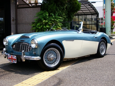 ★アイスブルー/オールドイングリッシュホワイトの2トーンカラーが美しい100/6(BN4 2+2) 15インチワイヤーホイール・直列6気筒SUキャブエンジン・国内1オーナー車・グッドコンディションの希少モデル♪