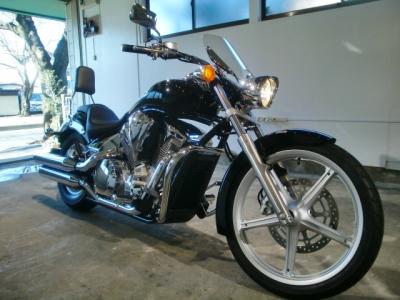 ホンダVT1300 CR−1バイクコーティング施工!