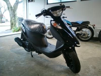 アドレス125 CR−1バイクコーティング施工!