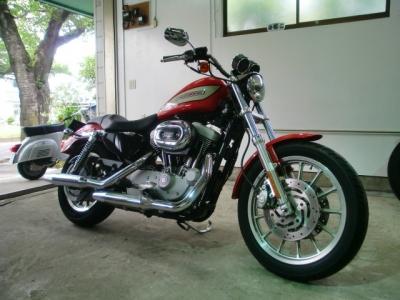ハーレースポーツスターCR−1バイクコーティング施工!