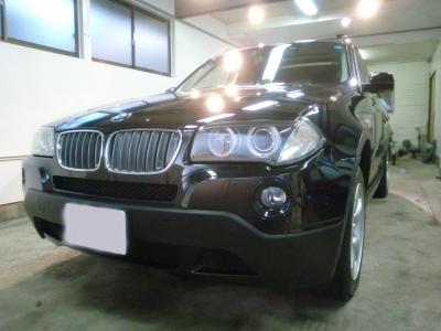 BMW �3(E83)ボディーガラスコーティング施工!