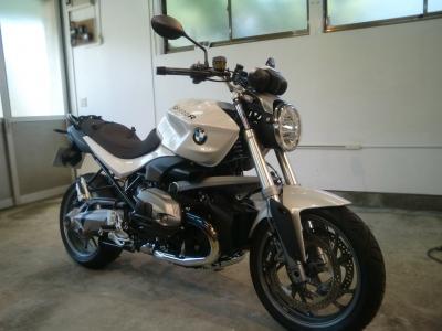 BMW R1200R CR−1バイクコーティング施工!