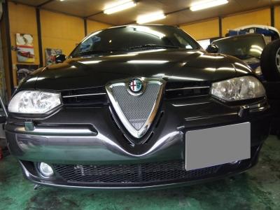 アルファロメオ156ボディーコーティング施工車