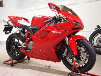 ドゥカティ1098CR−1バイクコーティング施工