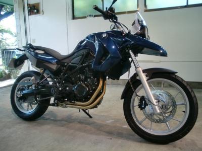 BMW F650GS CR−1バイクコーティング施工!