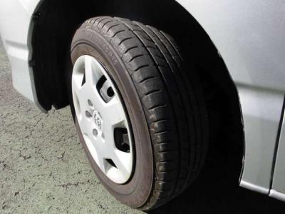 タイヤの溝まだまだいけます