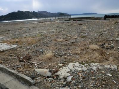 石巻市牡鹿半島鮎川港の画像です!何百件の家が流され瓦礫も綺麗に回収されておりました!