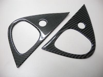 RX7 フル綾織ブラックカーボン製 ピラーガーニッシュ