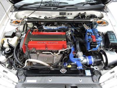 Varisカ-ボンボンネット ADVAN17インチ 車高調 チタンマフラ- Defi追加メ-タ-タイミングベルト交換済 社外ラジエタ- レカロ ブレンボキャリパ- C-WESTエアロ HKSブ-ストコントロ-ラ-