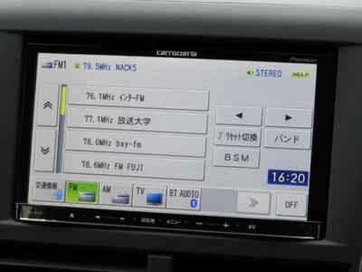 26,800km時にリビルトエンジン換装済み クスコ機械式LSD フルタップ式車高調 パドルシフト ナビ 地デジTV スマ-トキ-地上デジタルTV/DVD-V/CD/Bluetooth/USB/SD/チューナー