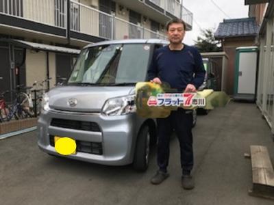 千葉県 F市 H様  タントLリミテッドSA� ご納車おめでとうございます。 素敵なカーライフをお送り下さい。