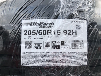 ヨコハマ・BluEarth RV-02・205/60R16