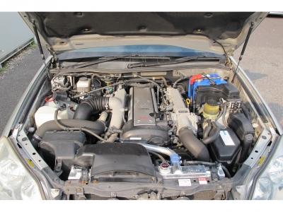 メーカーカタログ引用トヨタの名機1JZ−GTEターボエンジン、280PSの快速な走りを純正5速MTで楽しんでください。