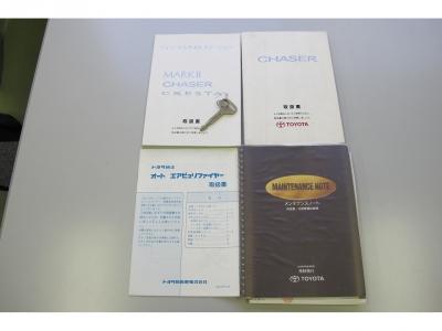 取説、新車保証書、記録簿、スペアキー完備1152.5100.10631.15441.55340.62824.64054KM時にメンテナンス記録あります、1オーナー車、純正5速MTのJZX100です。