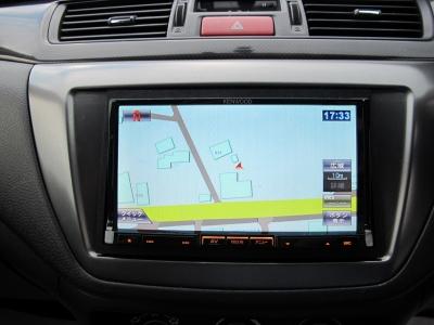 ケンウッドMDV-L500ナビフルセグTV装着済み、またETCも装着されていますので、装備充実なランエボワゴンになります。