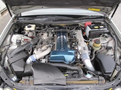 楽しい2Jターボ!メーカーカタログ引用2JZ-GTE出力280ps(206kW)/5600rpm トルク46.0kg・m(451N・m)/3600rpm 水冷直列6気筒DOHC24バルブツインターボ
