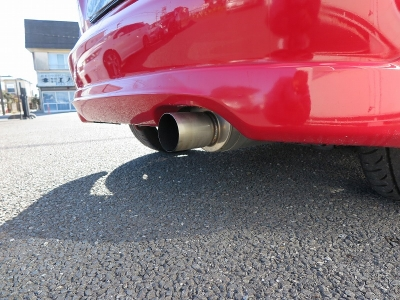 純正6速MT TEIN車高調リアロールバーフジツボマフラーグラムライツ16AWカーボンボンネット ロールゲージ装着の為2人乗り