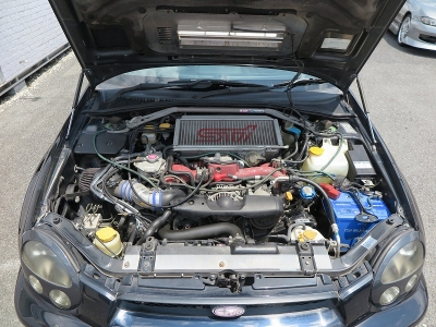 メーカーカタログ引用エンジン型式EJ20      280ps(206kW)/6400rpm トルク39.2kg・m(384Nm)/4400rpm  種類水平対向4気筒DOHC16バルブICターボ