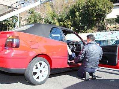 納車の時や修理の時には社長自らお車の説明も!