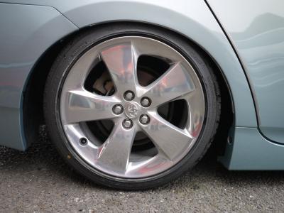 ツーリング純正アルミをバレル研磨!タイヤはグッドイヤーLS2000の215/40-17を新品で組み込み!