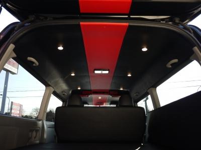 ルーフライニング張替 調光LEDダウンライト取付