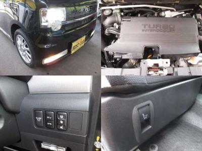 HIDヘッドライトとフォグランプ付です。ターボも良く効きます。運転席シートは電動シートになります。